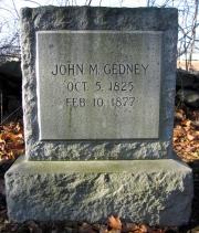 John M. Gedney 1825 - 1877