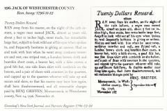 1796 Runaway Notice Benjamin Griffen pursues Jack